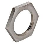 Контргайка латунная никелированная, Dn15