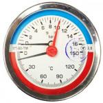 Термоманометр МТ-80-ТМ осевой (кл. 2.5) 16 bar 150°C