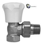 Вентиль радиаторный термостатический Herz угловой Dn15