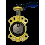 Затвор Баттерфляй с нержавеющим диском для газа (NBR) Ду40, PN16